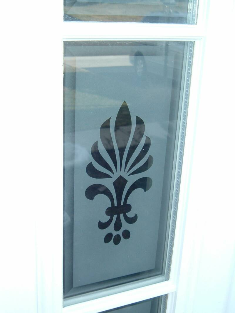 Entry Door Glass Etched Glass Etched Glass Design By Premier