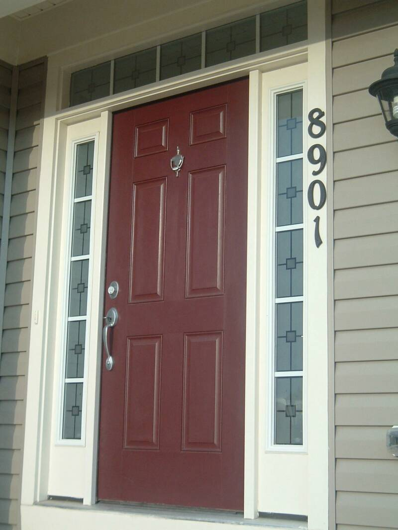 Front door with glass side panels quotes for Exterior side entry doors