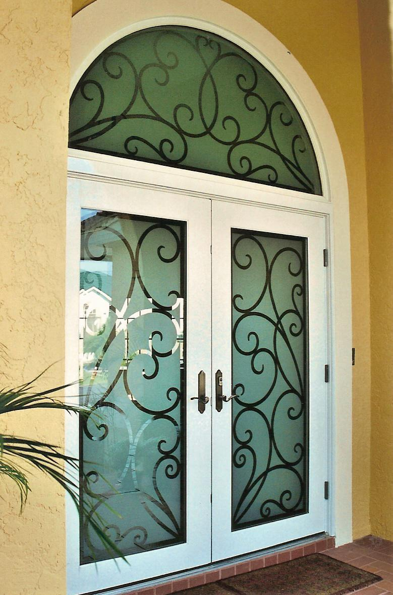 Doors etched glass etched glass design by premier for Door n window designs
