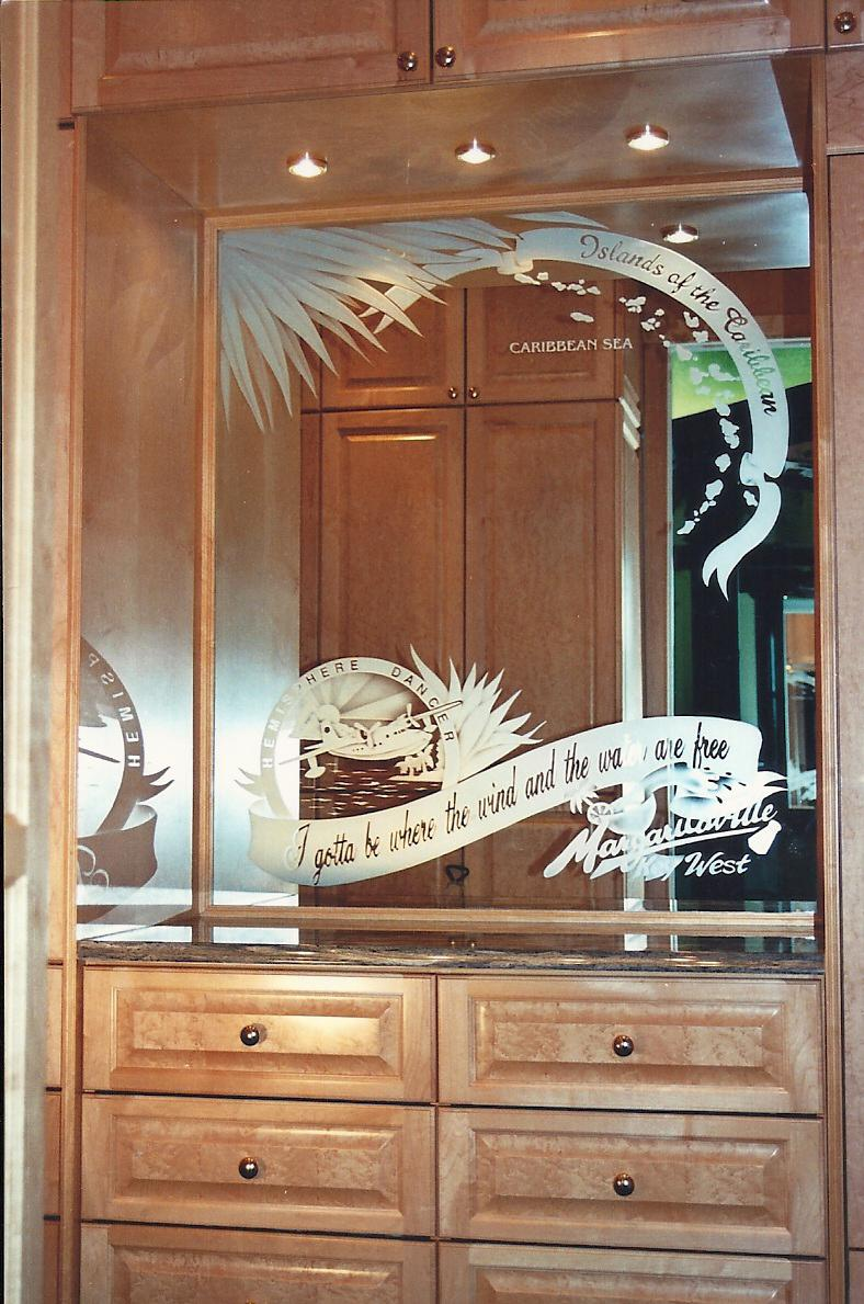 Etched Mirror Design By Premier Glass Studio Bar Mirrors Northern Virginia Maryland And Washington D C