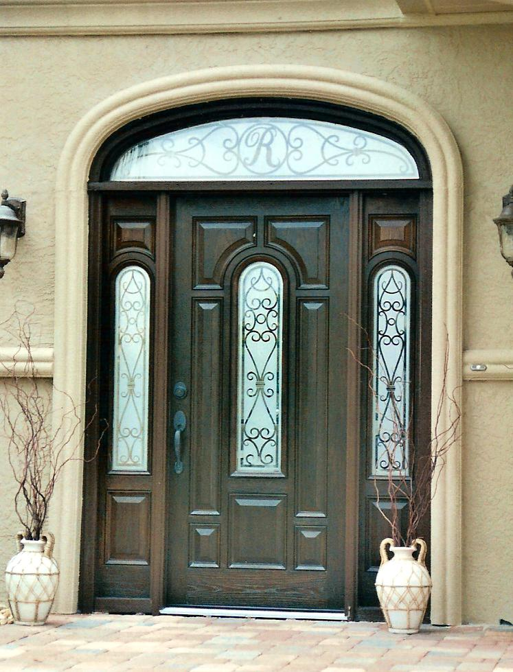 Doors Etched Glass Design By Premier Studio Howard Lee Northern Virginia