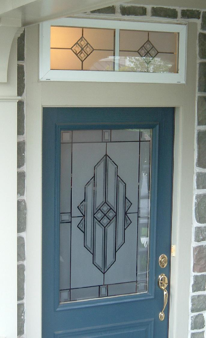 Glass panel front 3 panel exterior door 3 panel for Half glass exterior door